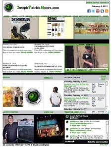 JosephPatrickMoore.com website redesign