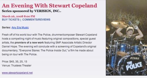 An Evening with Stewart Copeland
