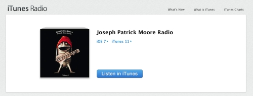 Joseph Patrick Moore Radio on iTunes